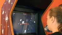 Tobii EyeAsteroids is the world's first arcade game that runs by eye control