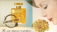 Dana Fragrances re-release limited edition 20 Carat gold-flake filled flacon