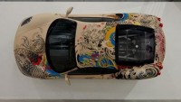 French artist wraps-up Ferrari F430 with leather and tattoo work