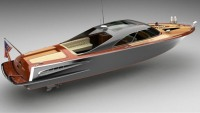 Mahogany Strand Craft 39′ Coupe yacht tender by Bo Zolland is for retro lovers