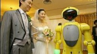The $215,000 Tiro robot acts as MC in wedding