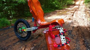 One-of-a-kind MotoX Throne by Veraseri Designs
