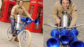 $8,000 Hornster bicycle has the world's loudest horn noisier than Concorde