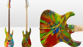 Damien Hirst and Flea designs Multi-Coloured Deluxe Spin Bass Guitar for $80,000