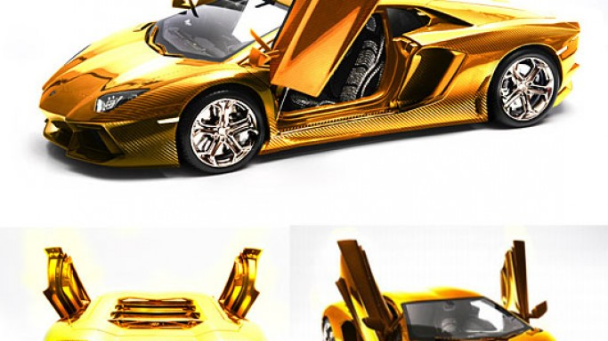 World's most expensive Lamborghini Aventador model car got a gilded makeover