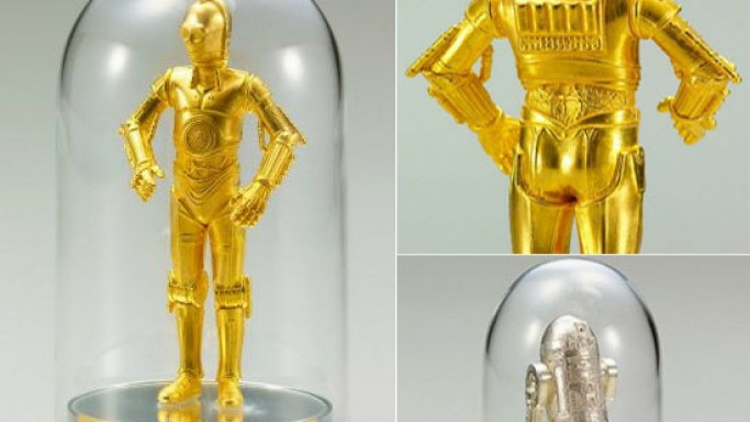 Solid gold Star Wars figurines for the wealthy sci-fi lover