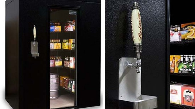 $8,000 Walk-In Beer Cooler & Kegerator is for party lovers
