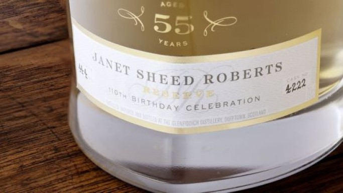 Glenfiddich Janet Sheed Roberts Scotch whisky bottles setting record prices