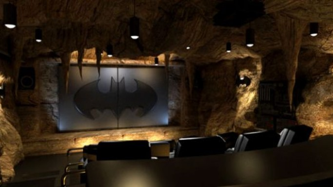 Batman themed super home theater space