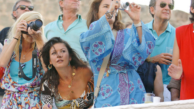 Michael Douglas enjoys Menorca Islands of Spain.