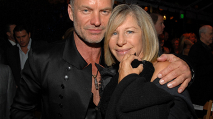 Sting and Barbara Streisand attends Oceana event in 2008