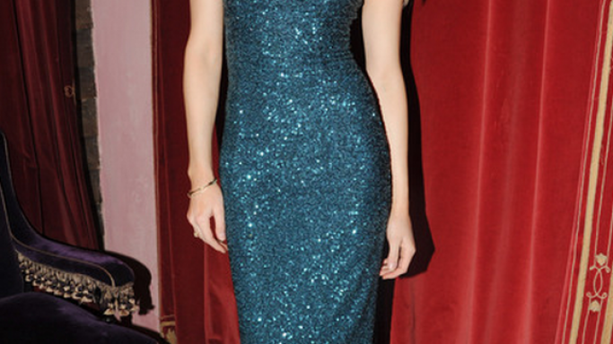 Amber in L'Wren Scott Spring 2012 RTW Sequin Dress