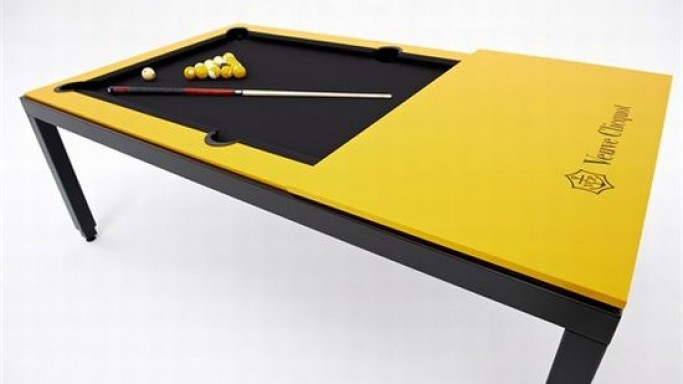 Fusiontables teams up with Veuve Clicquot for Limited Edition Convertible Billiards Table