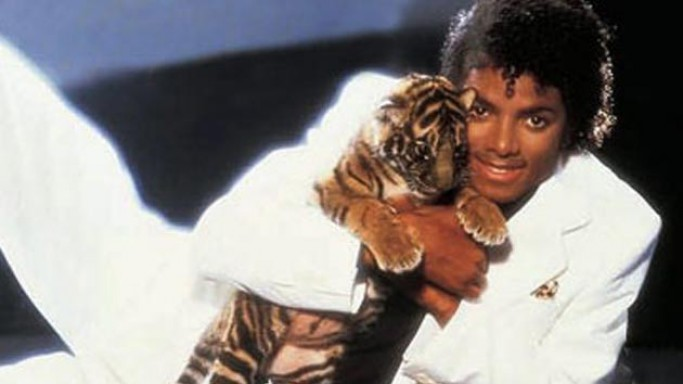 Michael Jackson with his tiger