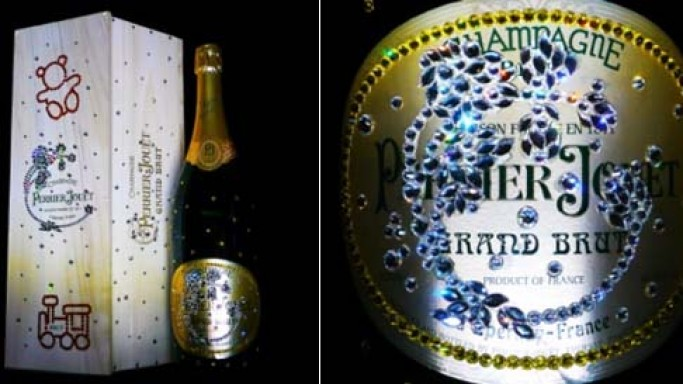 Cimon Art designs Swarovski Studded Perrier-Jouët's Grand Brut for Auction