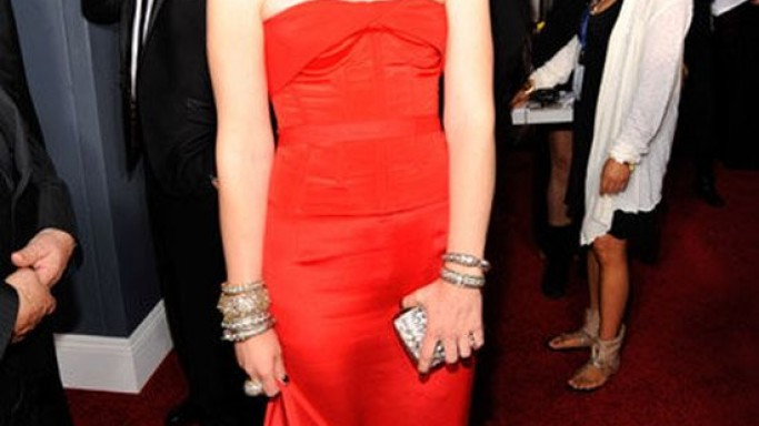 The singer flaunted the luxurious bangle at the 53rd Annual Grammy Awards on February 2011.