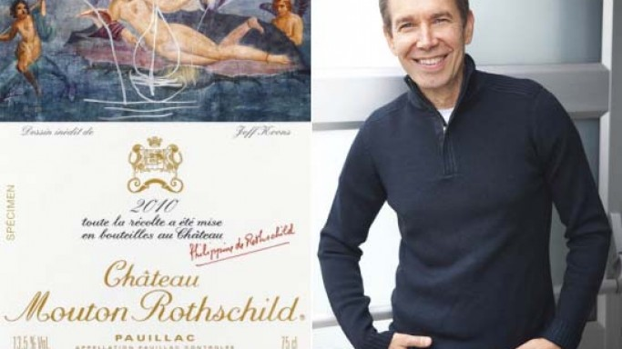 Jeff Koons designs wine label for Château Mouton Rothschild