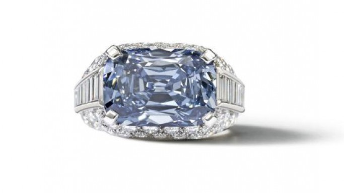 Exquisite Bulgari blue diamond ring circa 1965 is expected to fetch over $2.3m at Bonhams auction