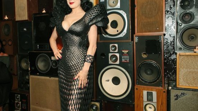 Dita Von Teese Shows her Curves Donning the World's First 3D Printed Dress