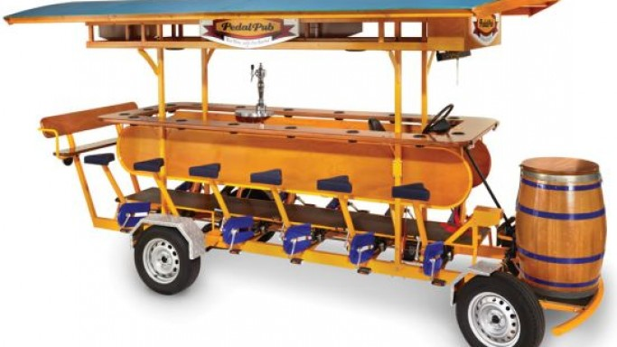 $40,000 Pedal Pub is just perfect for St Patrick's Day