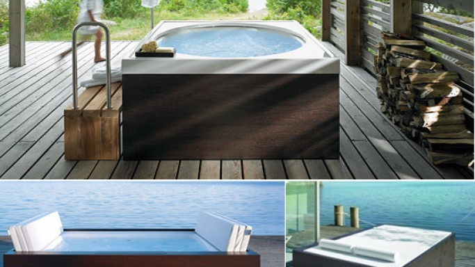 Duravit's outdoor bathtubs now offer you at-home spa indulgence