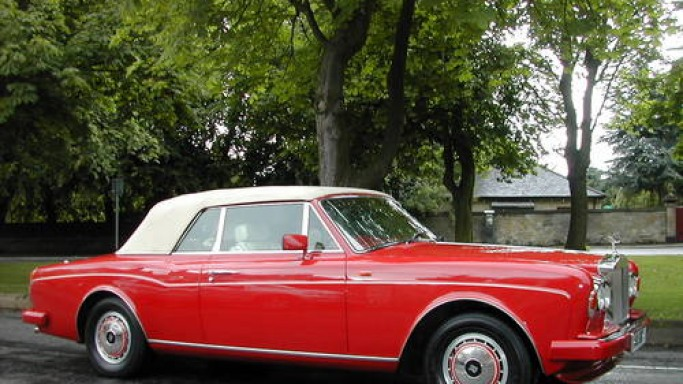 Rolls-Royce Corniche III car - Color: Red  // Description: showy