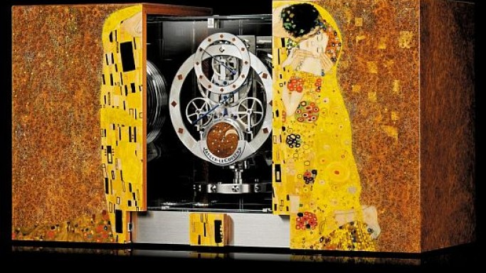 Jaeger Le Coultre recreates 'The Kiss' painting by Gustav Klimt on its latest watch