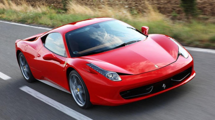 Ferrari 458 Italia car - Color: Red  // Description: showy