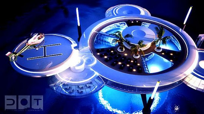 'Discus' underwater hotel planned for Dubai with underwater rooms 10m below surface