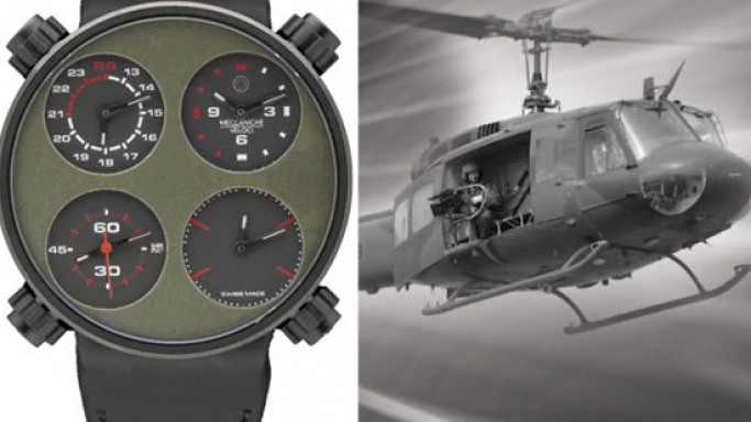Meccaniche Veloci Only One watch made from the airframe of world's most historic helicopter