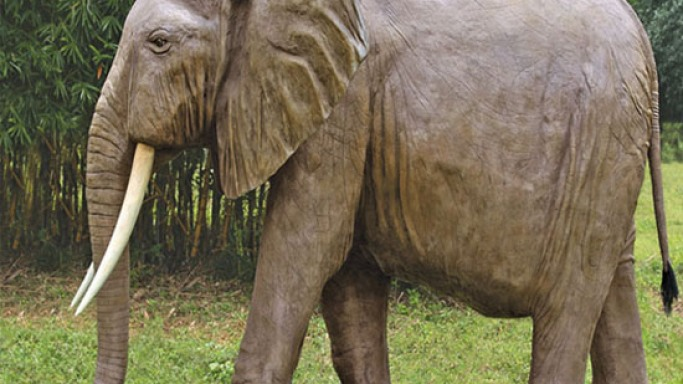 $8,500 life-sized elephant for your luxury backyard