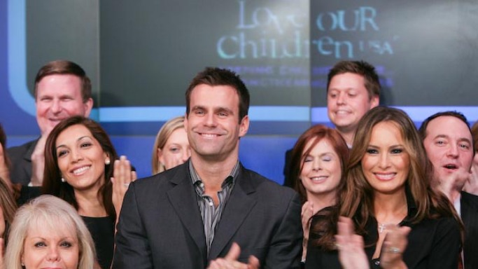 John and many more celebrities supports Love Our Children USA program including Melania Trump, Cameron Mathison and Rebecca Budig