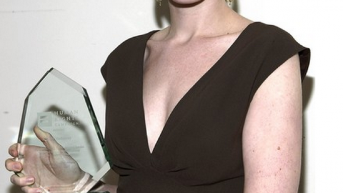 Anne Hathaway at Human Rights Campaign's annual Los Angeles Gala
