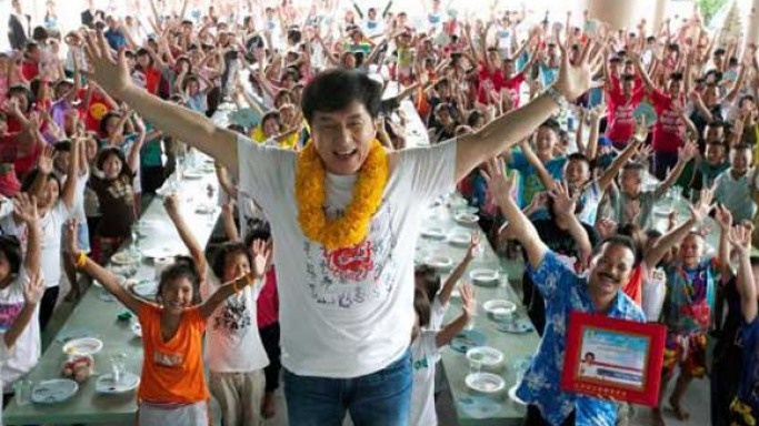 Jackie Chan in Thailand for his Dragon's Heart Charity event