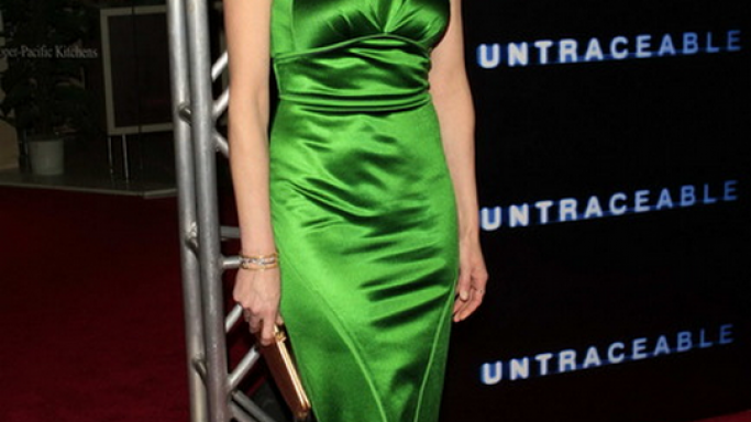 "Diane was photographed donning this designer green dress to the world premiere of the movie ""Untraceable"" on January 2008."