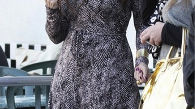 The actress was snapped donning her $ 200 Rachel Pally Wrap Dress to a high profile event.