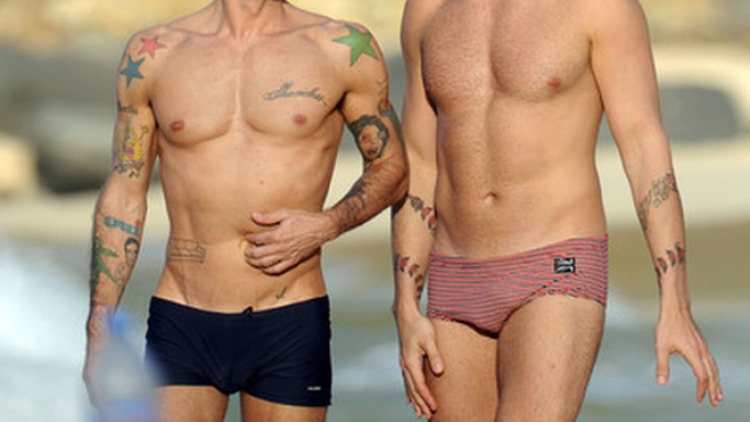 Renowned fashion designer Marc Jacobs was spotted enjoying his vacation on the beaches of St. Barts