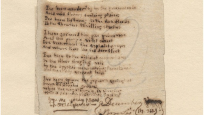 Keats and Bronte's manuscripts sell for record breaking prices at auction