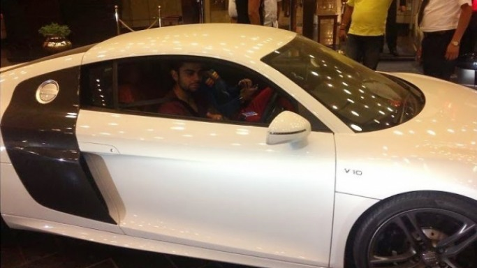 photo of Virat Kohli Audi R8 - car