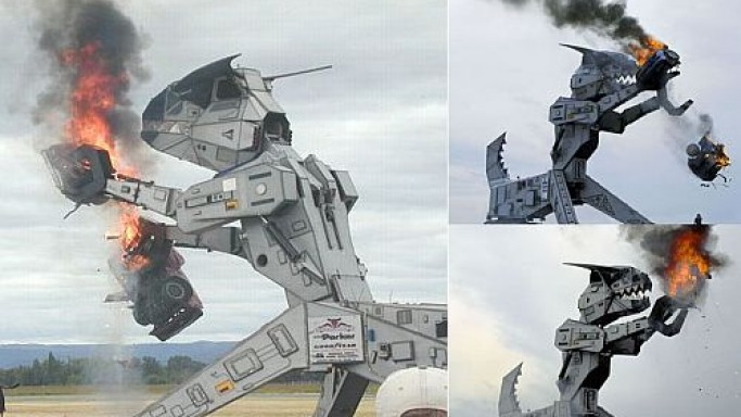 Monstrous fire breathing Robosaurus to be auctioned