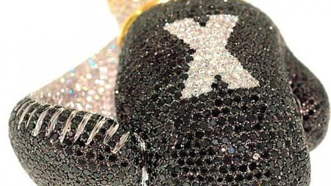 Custom Diamond-encrusted Boxing gloves