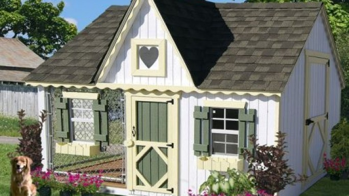 Victorian Cozy Cottage Kennel doghouse for wealthy pet owners