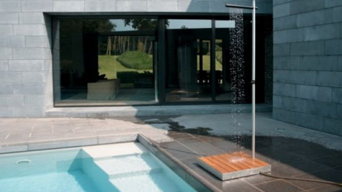 Cascade outdoor shower is simply stunning to look at!