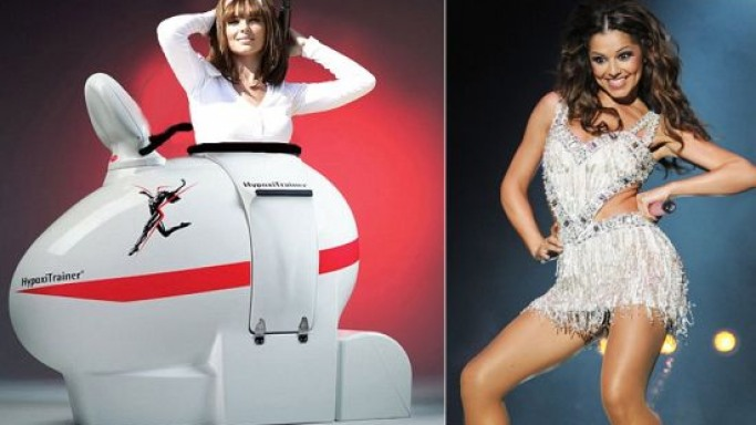 Skinny Cheryl Cole spends £36K on a 'wind tunnel' exercise bike