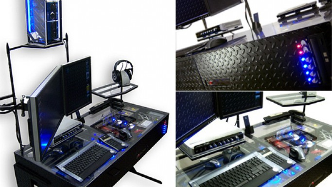 The futuristic desk-cum-computer mod