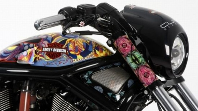 Harley-Davidson is all macho in flowery