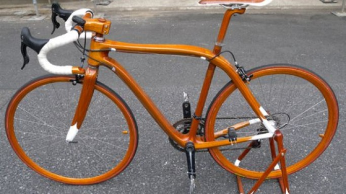 Beautiful Mahogany Bikes by Sueshiro SANO