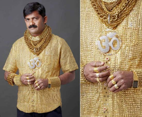Indian businessman Datta Phuge's world's most expensive shirt made of 22-karat gold costs $235,000